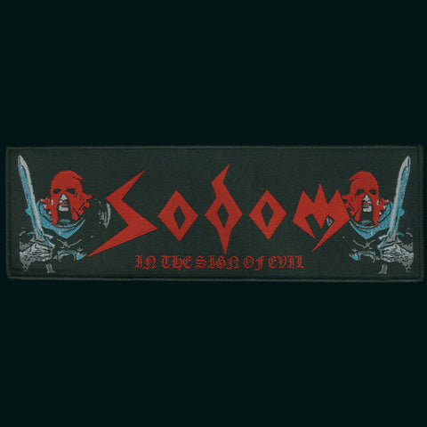 "Sodom ""In the Sign of Evil"" 9"" Strip Patch"