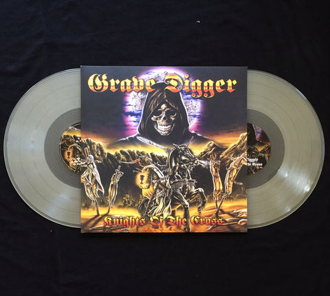 "Grave Digger ""Knights of the Cross"" DLP Clear Vinyl"