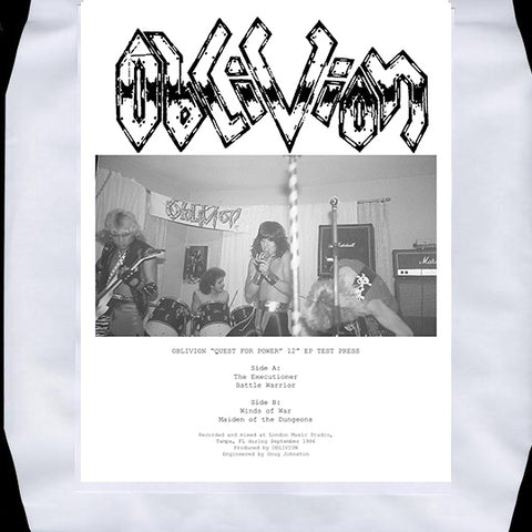 "Oblivion ""Quest For Power"" 12"" EP Test Press"