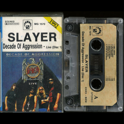 "Slayer ""Decade of Aggression - Live (Disc 1)"" MC"