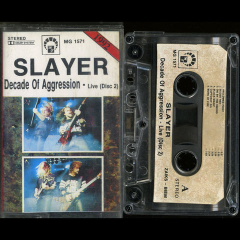 "Slayer ""Decade of Aggression - Live (Disc 2)"" MC"