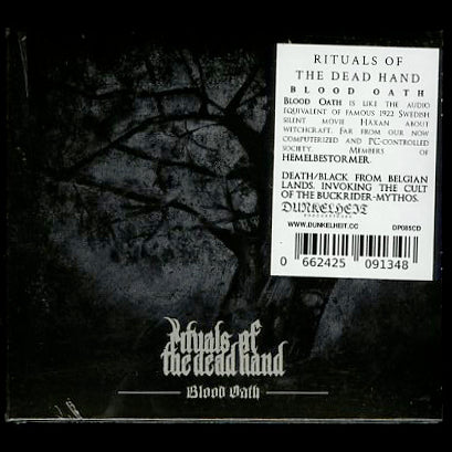"Rituals of the Dead Hand ""Blood Oath"" Digipak CD"