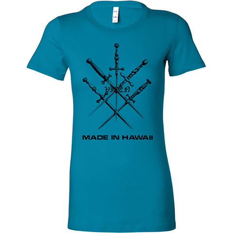 "Vixen ""Made in Hawaii"" Women's Light Blue TS"