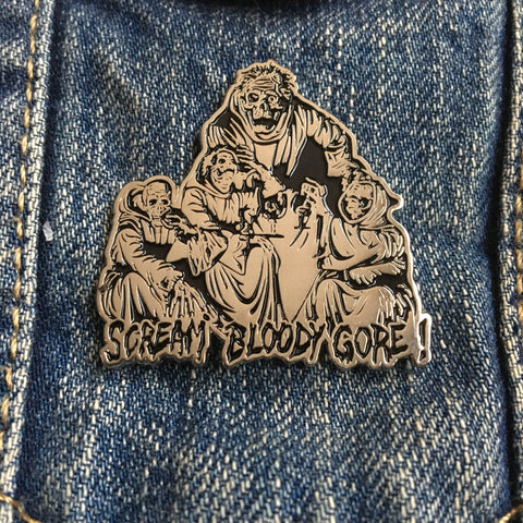 "Death ""Scream Bloody Gore"" Enamel Pin"