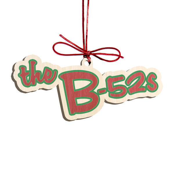 The B52s Holiday Ornament (red/green logo)