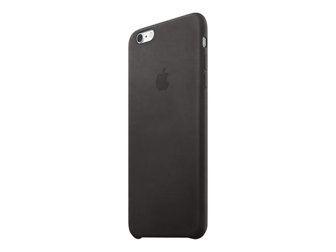 Apple Back cover - Leather - Black - for iPhone 6 Plus, 6s Plus