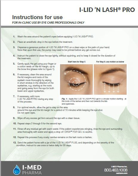 I-LID 'N LASH®PRO Instructions for use