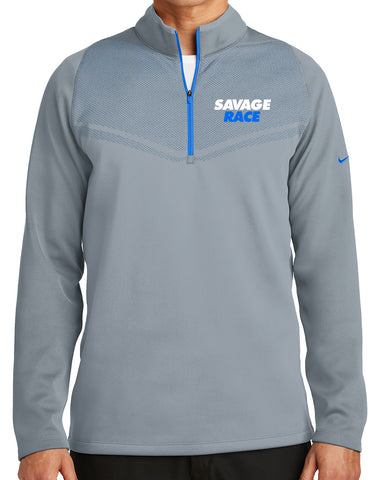 Men's Nike Grey/Blue Half Zip