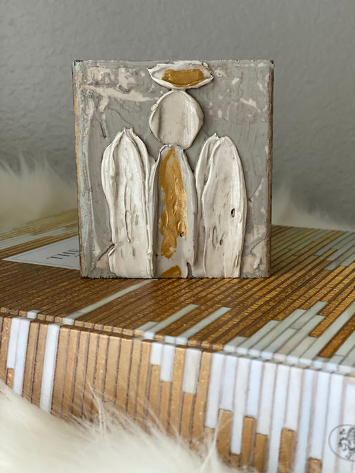 Grey Angel Wood Art