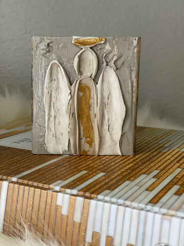Taupe Angel Wood Art