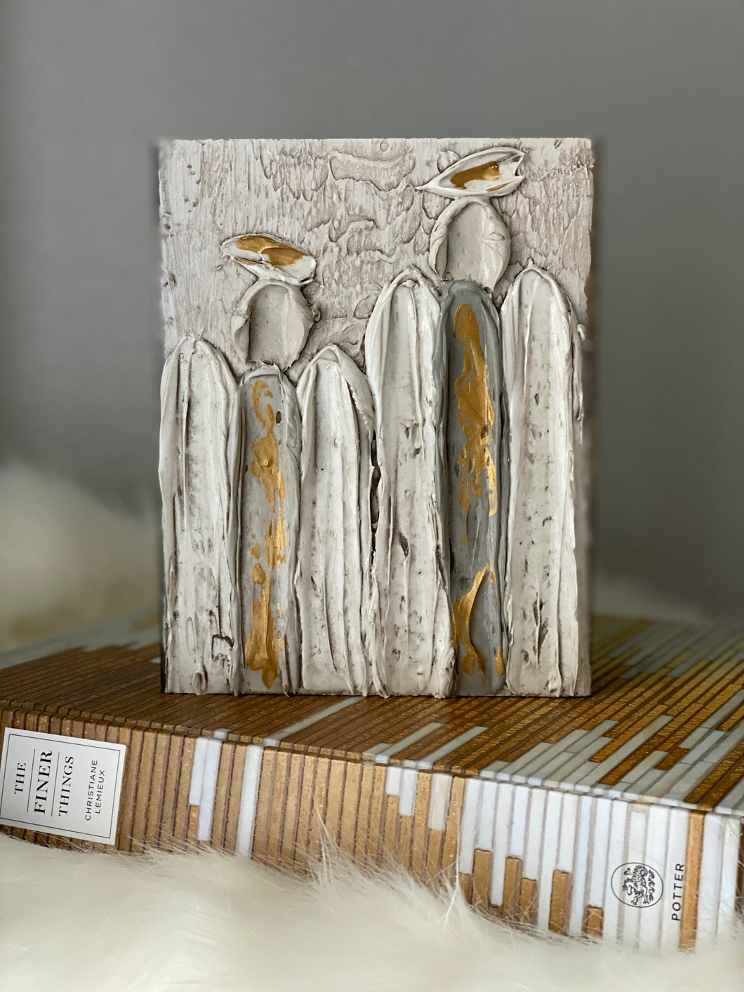 Two Angels Wood Art