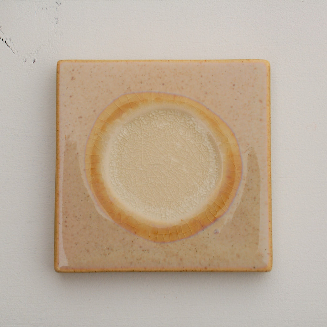 Stoneware Coaster Set - Tan & Ivory | Home Decor | Amped Decor