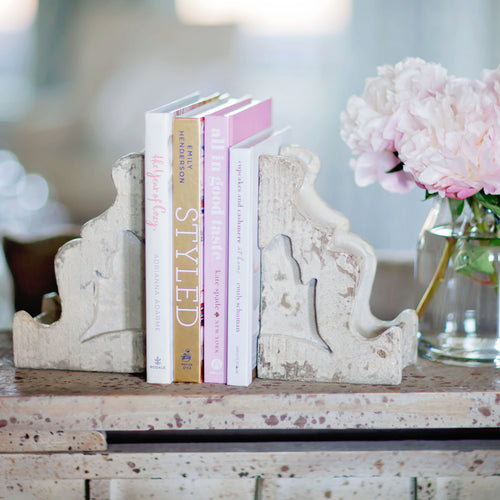 Distressed Corbel Bookends | Home Decor | Amped Decor