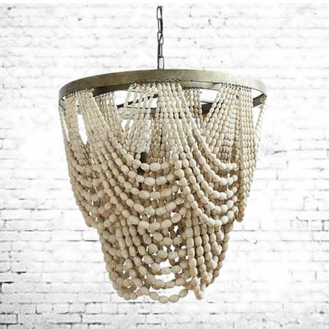The McKinney Farmhouse Draped Bead Chandelier | Home Decor & Lighting | Amped Decor