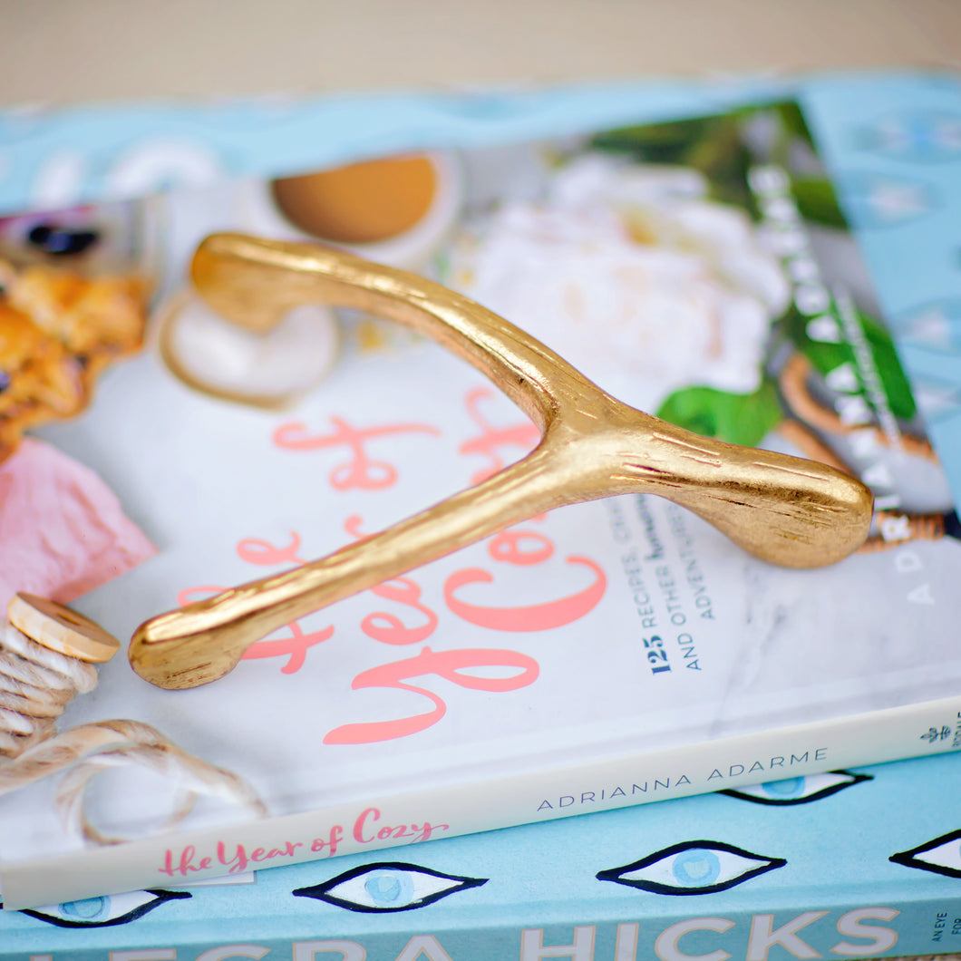 Gold Wishbone | Home Decor | Amped Decor