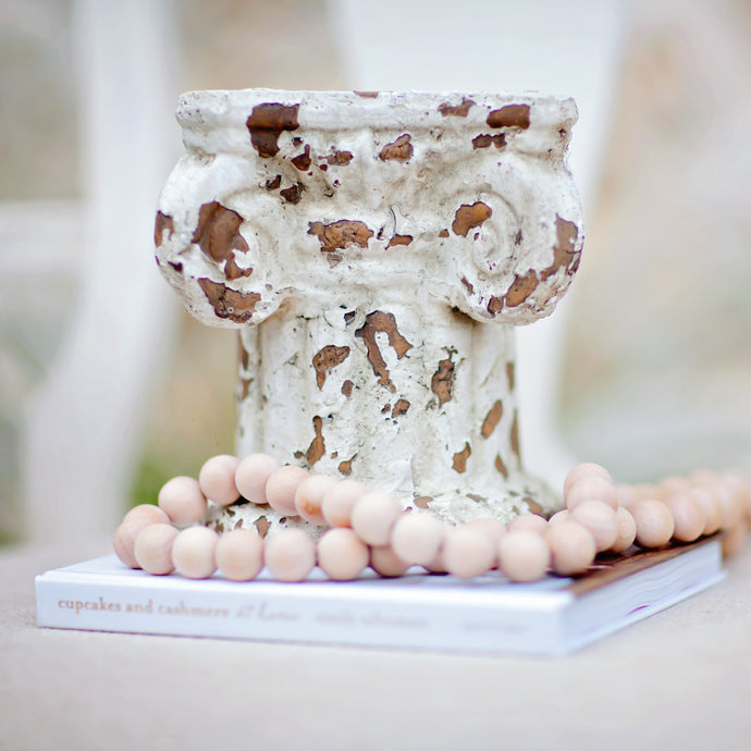 Distressed Column Pedestal | Home Decor | Amped Decor