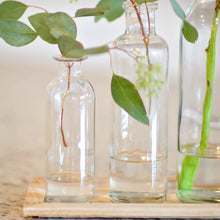 Glass Bottles & Wooden Tray Set | Home Decor | Amped Decor