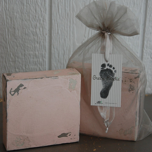 Canvas Baby Footprint Kit - Pink | Home Decor | Amped Decor