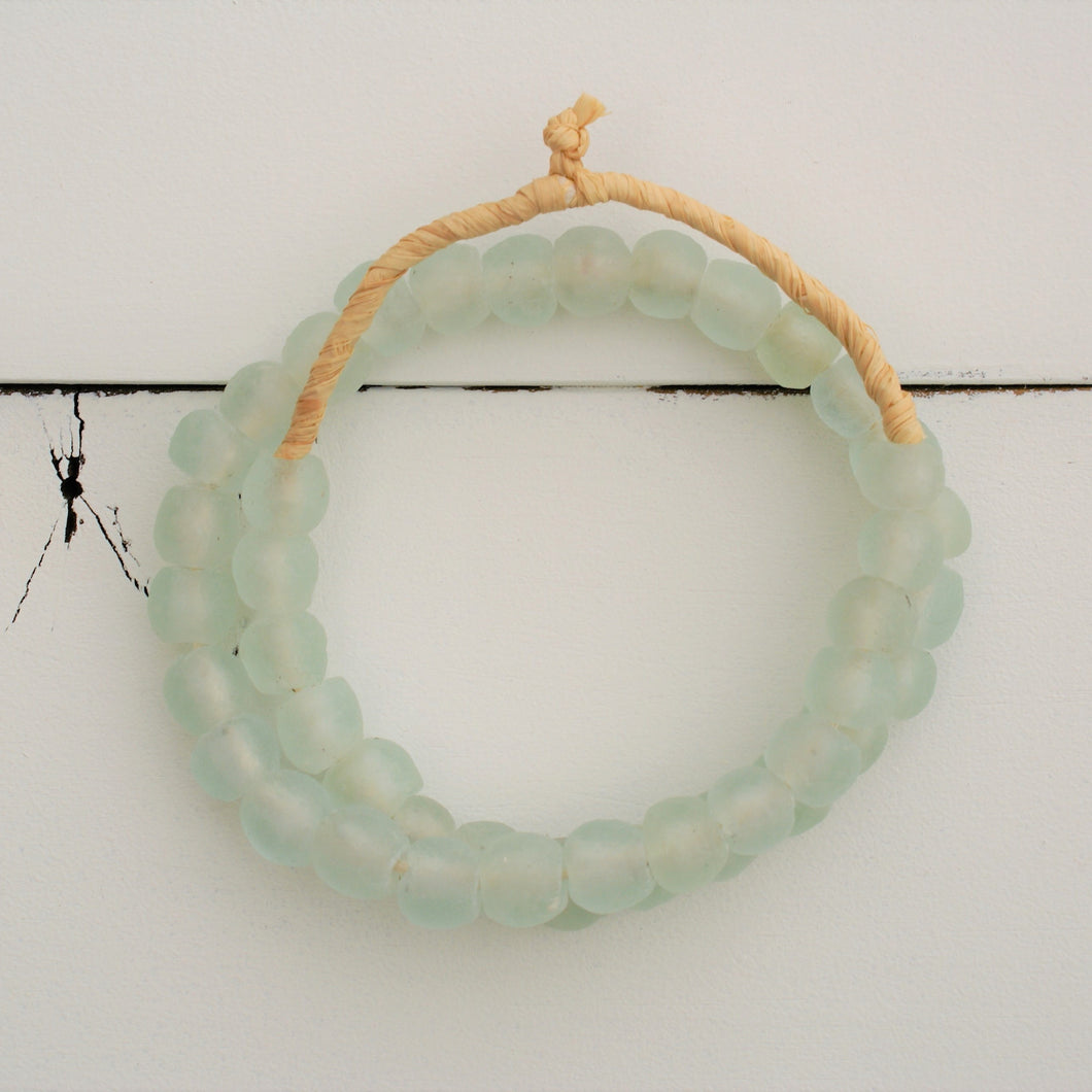 Sea Glass Beads - Clear Aqua | Home Decor | Amped Decor