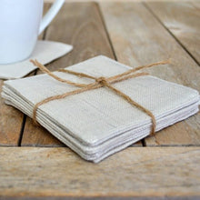 Silver Metallic Linen Coaster Set | Home Decor | Amped Decor