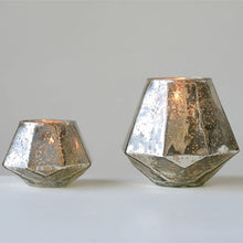 Medium Hexagon Mercury Glass Votive Holder | Home Decor | Amped Decor