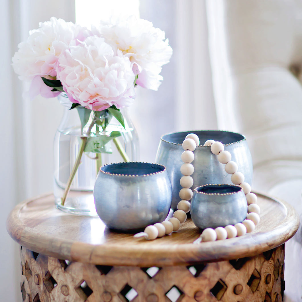 Round Metal Planter Set | Home Decor | Amped Decor