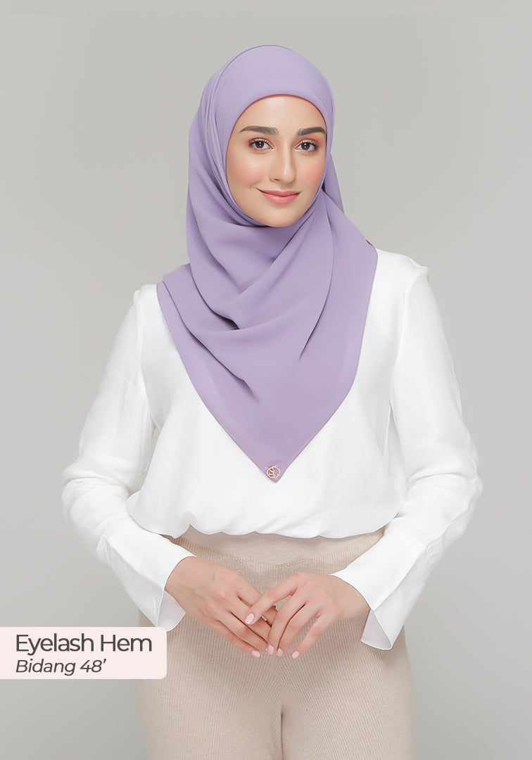 BAWAL DIOR in Heather Violet (Cotton Voile)