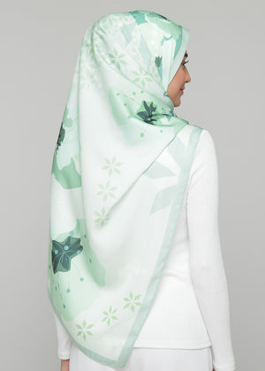 Le' Fleur in Moroccan Sage | Slim Border  (Korean Matte Silk)