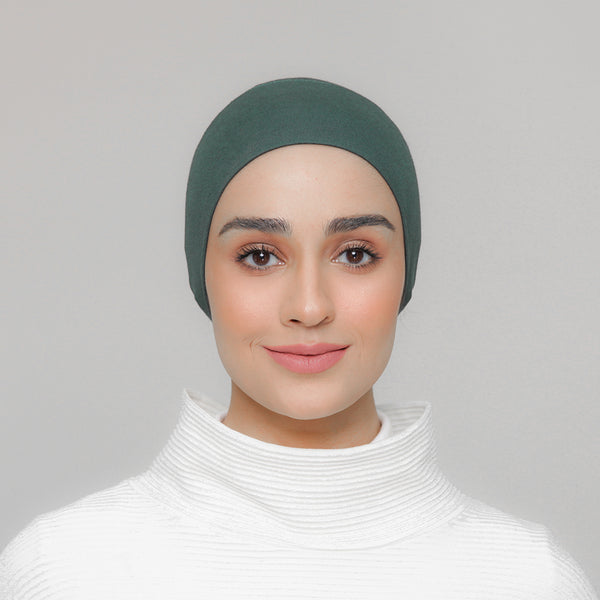 Viscose Snowcap in Clover Green