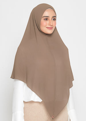 [READY STOCKS] SLBAWALPLEATS SET in Brown Taupe