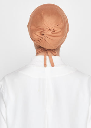 Tie-Back Viscose Snowcap in Caramel