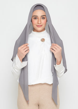 [READY STOCKS] SLBAWALPLEATS SET in Charcoal Grey
