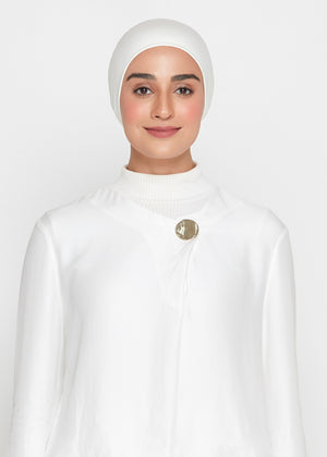 Tie-Back Viscose Snowcap in Ivory White