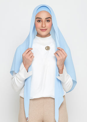 [READY STOCKS] SLBAWALPLEATS SET in Sky Blue