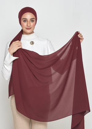 Chiffon Dolce in Crimson Red (Semi-Instant)