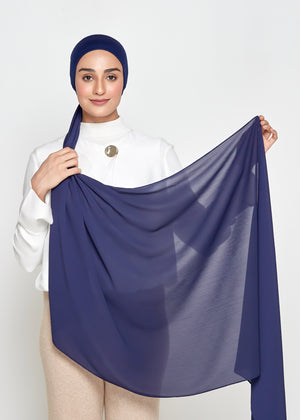 Chiffon Dolce in Deep Blue (Semi-Instant)