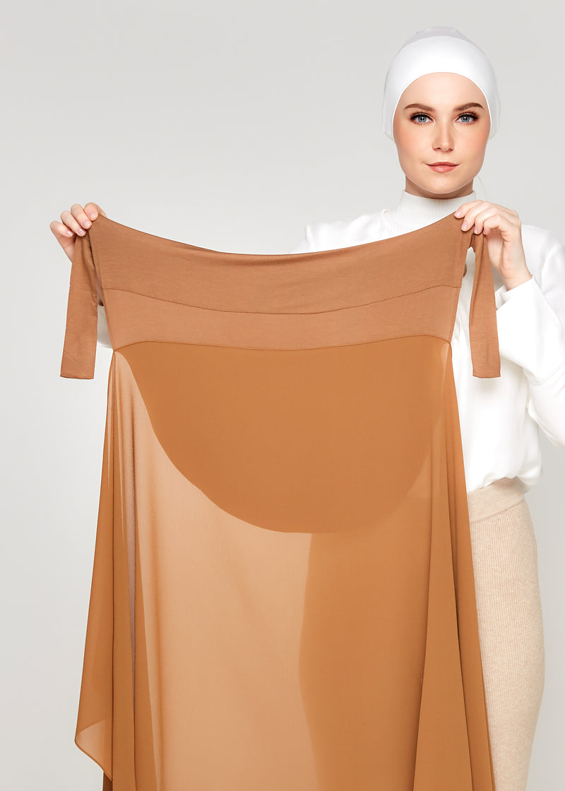 Tie-Back Chiffon Gabana in Bronze
