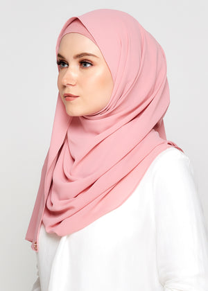 [READY-STOCKS] Tie-Back Chiffon Gabana in Bubblegum Pink