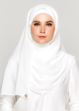 [READY-STOCKS] Tie-Back Chiffon Gabana in Pure White