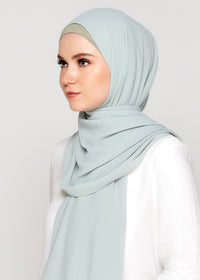 Tie-Back Chiffon Gabana in Seagrass
