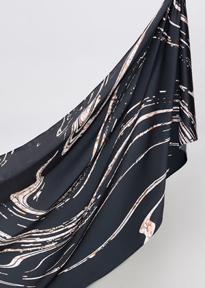Marble Onyx in Black (Korean Matte Silk)