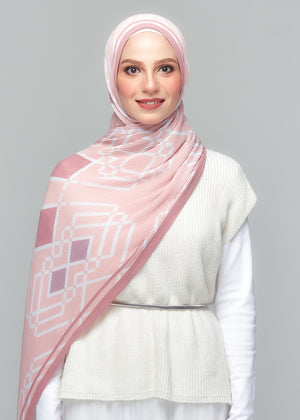 YES DEFECT: MONOLUX PLEATED in Aurora Pink
