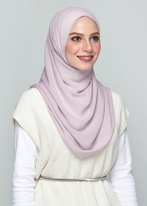 YES DEFECT: Premium Chiffon in Lilac (Eyelash Hem)