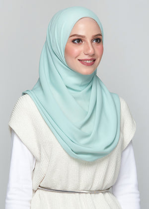Premium Chiffon in Mint Green (Eyelash Hem)