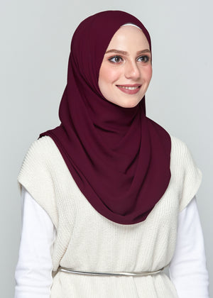 Premium Chiffon in Mulberry (Eyelash Hem)
