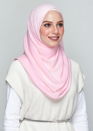 Premium Chiffon in Soft Carnation (Eyelash Hem)