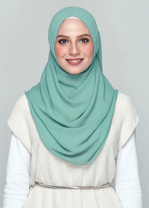 NS: Premium Chiffon in Dusty Green (Eyelash Hem)