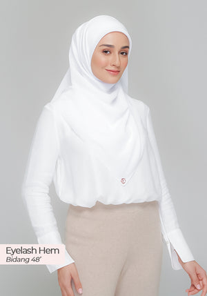 BAWAL DIOR in Cotton White (Cotton Voile)