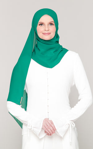 Premium Voile in Jade Green