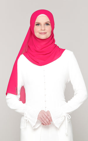 Premium Voile in Hot Pink (Eyelash Hem)